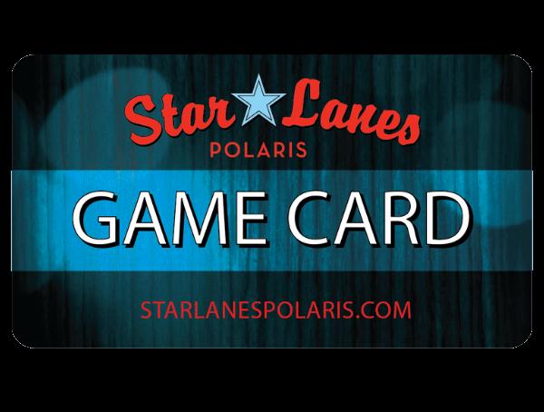 star lanes polaris game room game card